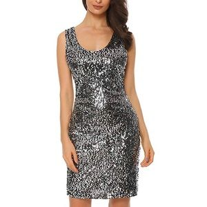 Dresses & Skirts - Sequin Bodycon Cocktail Dress
